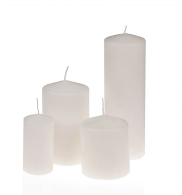 Pillar candles – White