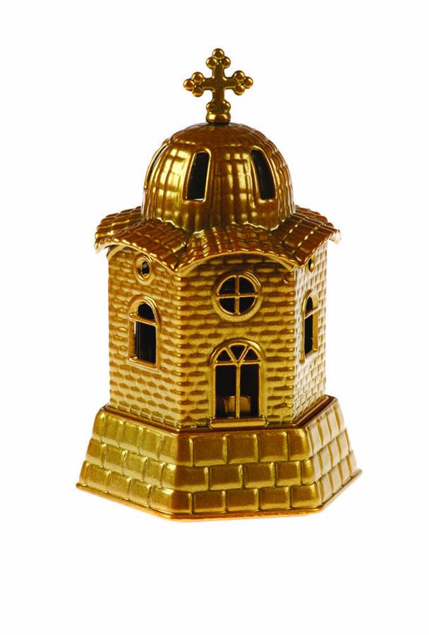 Καντήλι λαδιού εκκλησάκι χρυσό