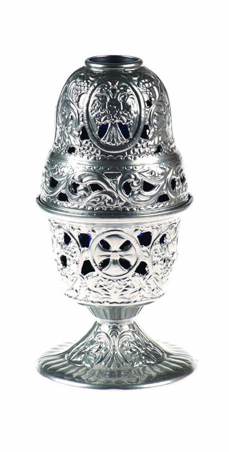 Silver KT Vigil oil lamp
