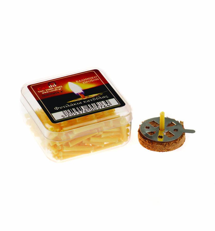 Φυτιλάκια παραφίνης κίτρινα