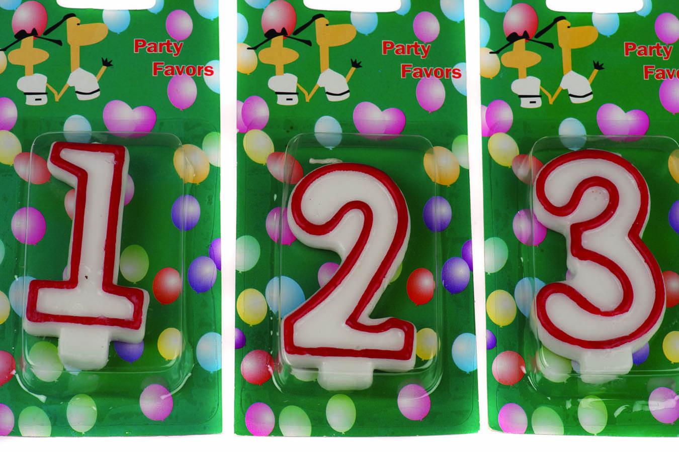 Birthday Candles Νο1,2,3