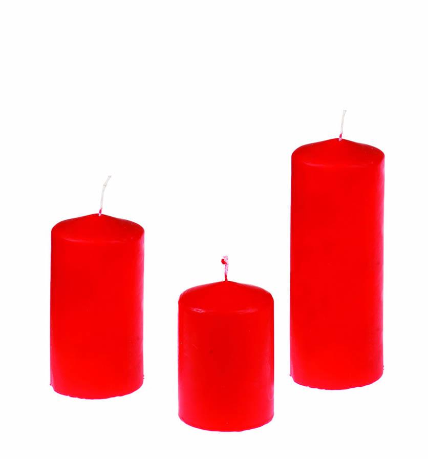 Κερί κορμός κόκκινο