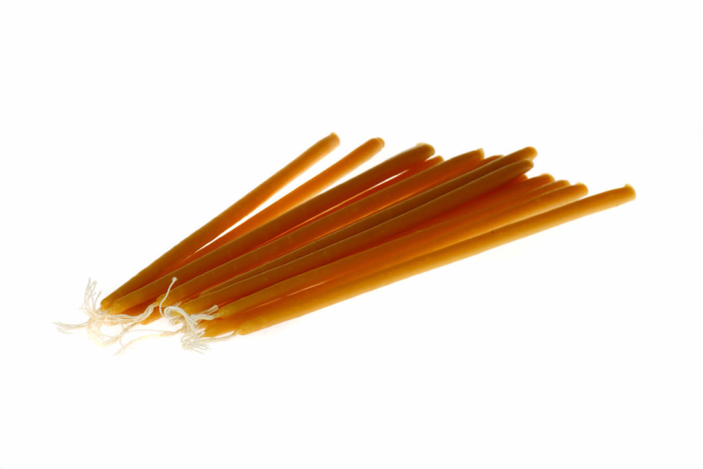 Κεριά παραφίνης Νο1-5 κίτρινα