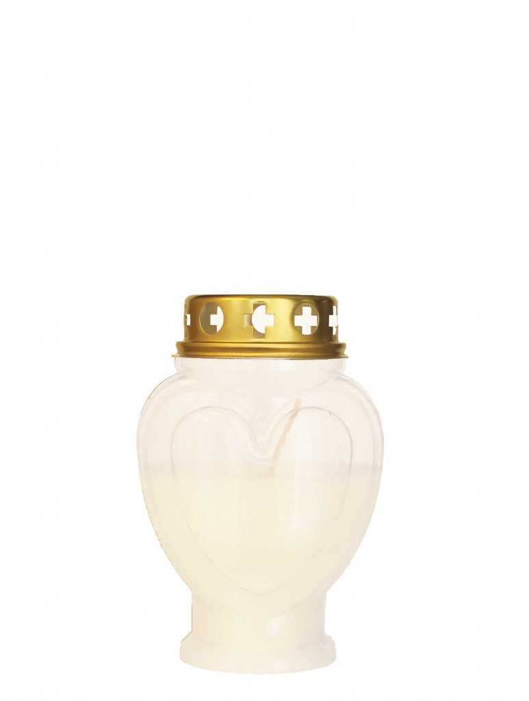 Heart Shaped Candle white