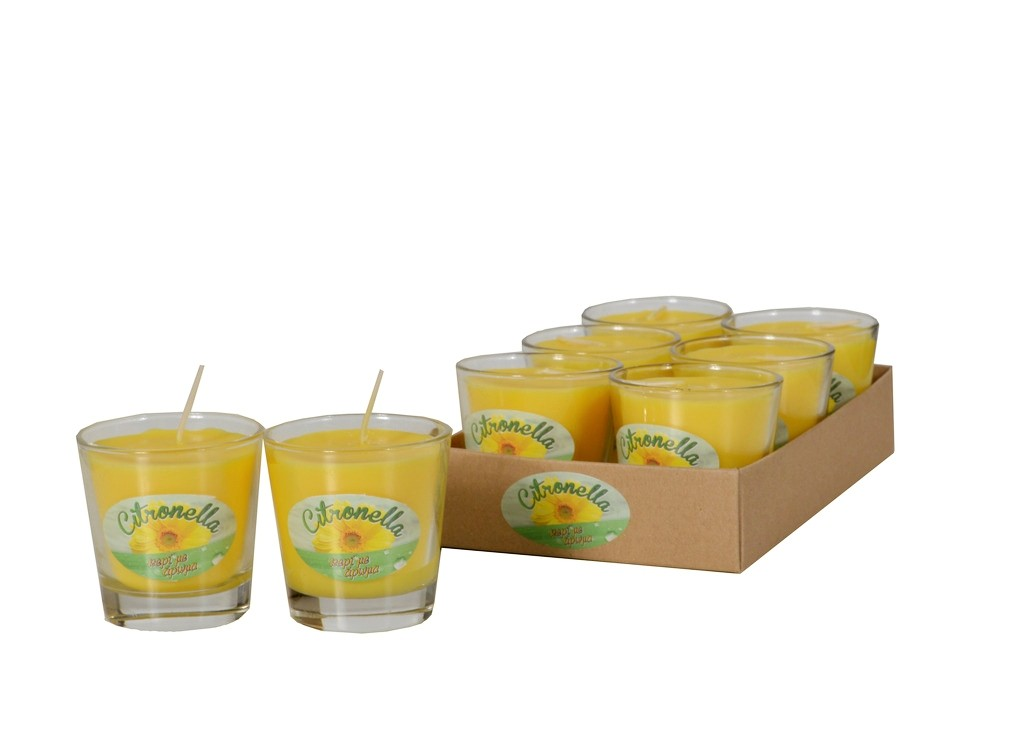 Aντικουνουπικό κερί σε ποτήρι