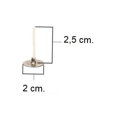 LX 2,5cm Pretabbed Tealight Wick