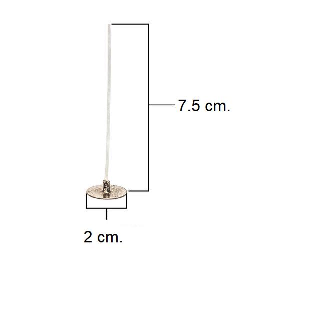 LX 7,5cm Pretabbed Wick