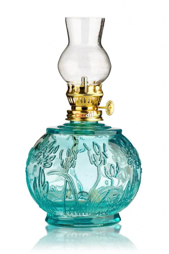 Lampada di paraffina liquida fiore blu chiaro